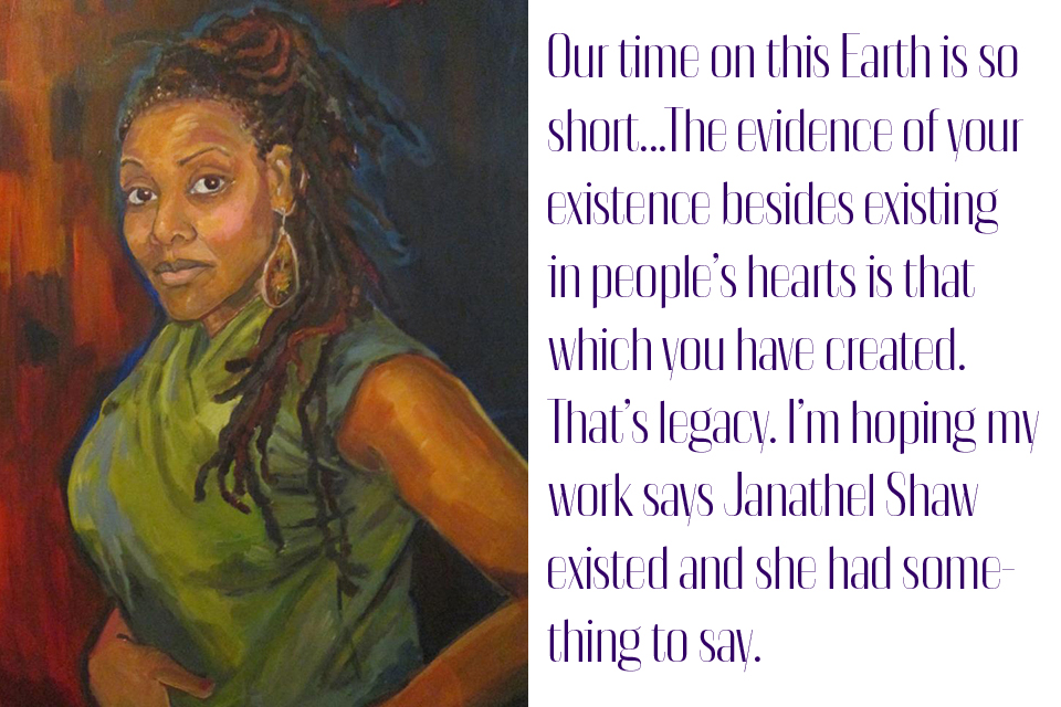 Janathel Shaw, Self Portrait, © 2012