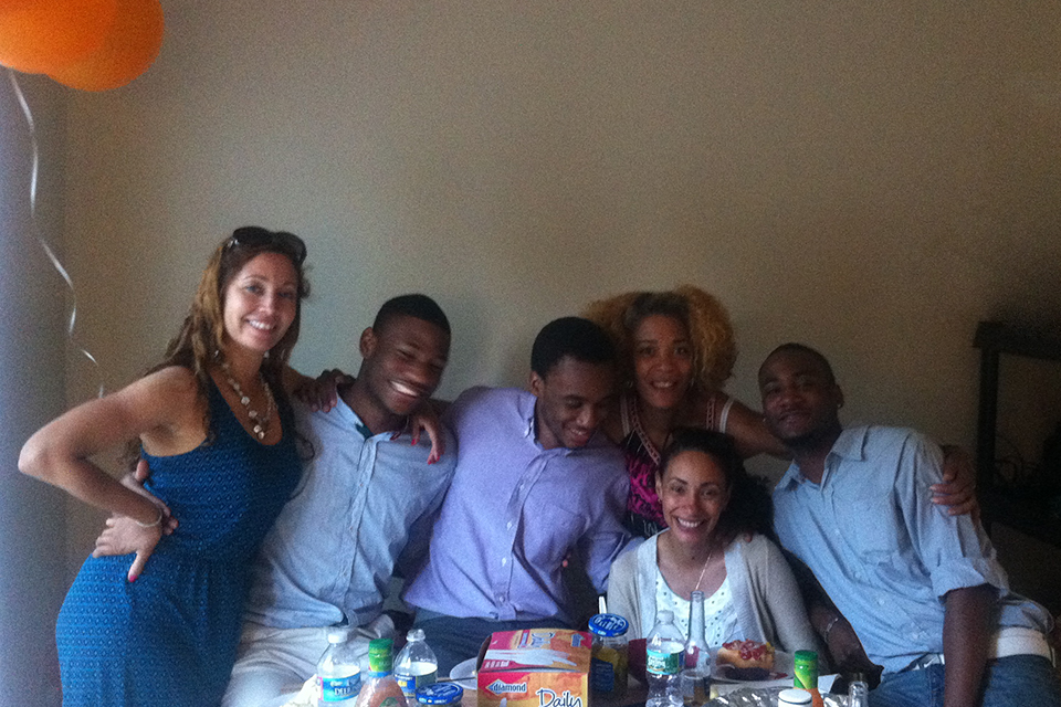 """My nieces and nephews are amazing human beings and are beautiful people all around"" Delissa says. ""I'm very close to them and very proud of them."" From left, Aja Cathcart, Davion Reynolds, Kai Reynolds, Monisha Knight, Raymond Jackson and in front, Danielle Jackson.  (Not pictured, Shaun Burgess)"