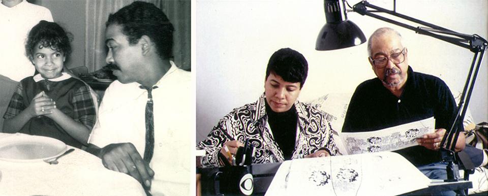 Barbara and her dad: cartoon history makers. Photos courtesy of Barbara Brandon-Croft.