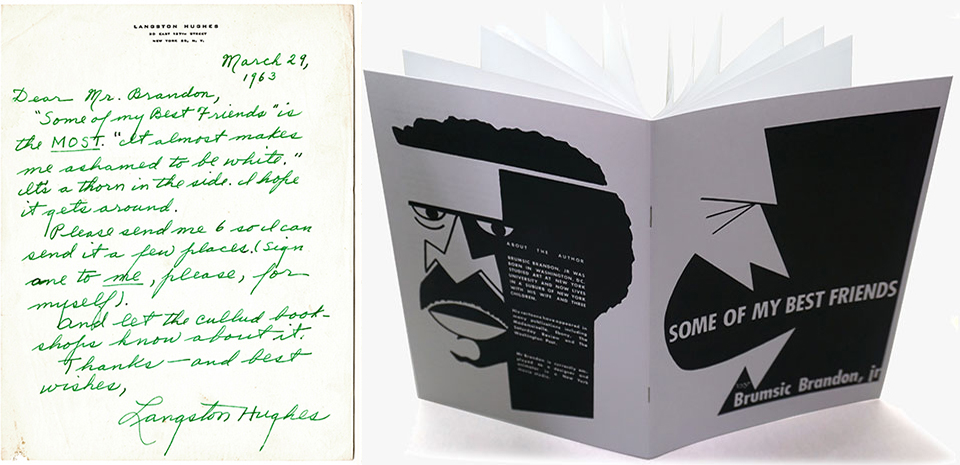 "When Langston Hughes dubs your book, ""the MOST,"" it's high praise.  Some of My Best Friends   ©Brumsic Brandon, Jr. Art Trust. Photos courtesy of Medialia Gallery."