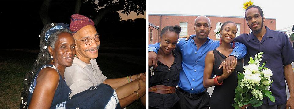 The striking DaCosta Johnson family: Orundun and Awolowo (left) and their children, djassi, Mamadou, Yaya and Djani.