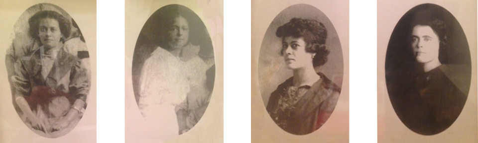 Paternal ancestors. Crystal's great grandmother, Birdie Hunt (second from the right) and her sisters. Photos courtesy of Crystal Whaley.