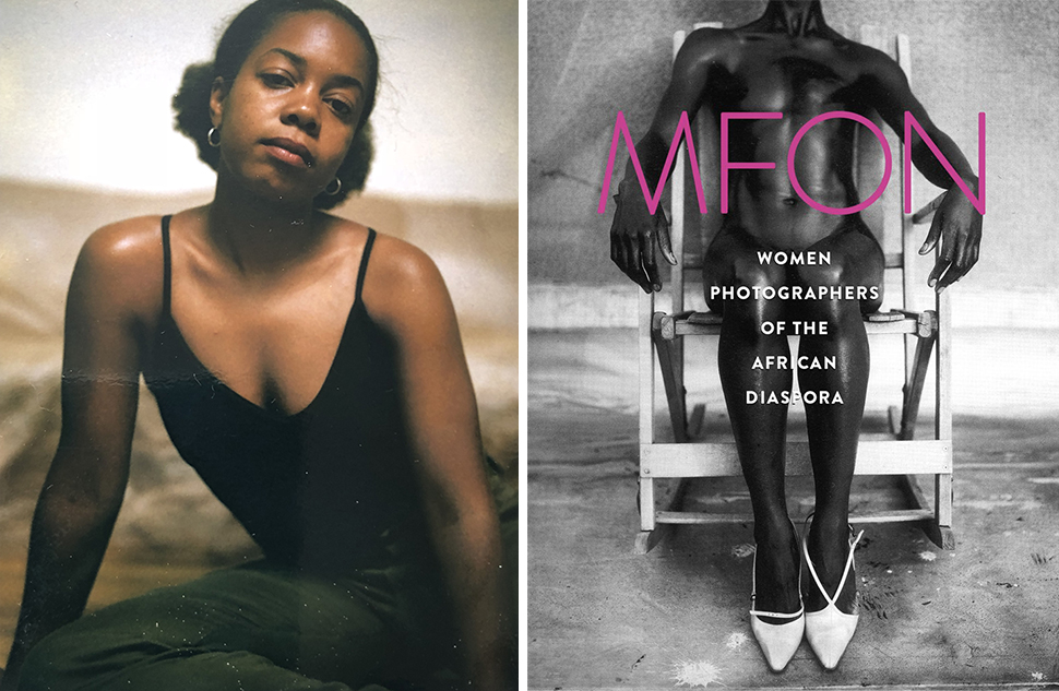 As Mfon Essien's photo assistant, Crystal would sit in for subjects as Mfon adjusted her lighting. Here, one of many polaroid portraits. The inaugural publication of     MFON: Women Photographers of the African Diaspora .  Photos courtesy of Crystal Whaley.