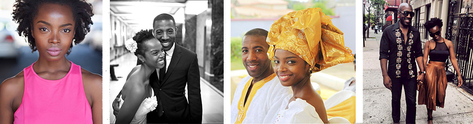 Beautiful MaameYaa; double wedding portraits; Harlem's hot couple. Photos courtesy of Jeremiah Abiah.