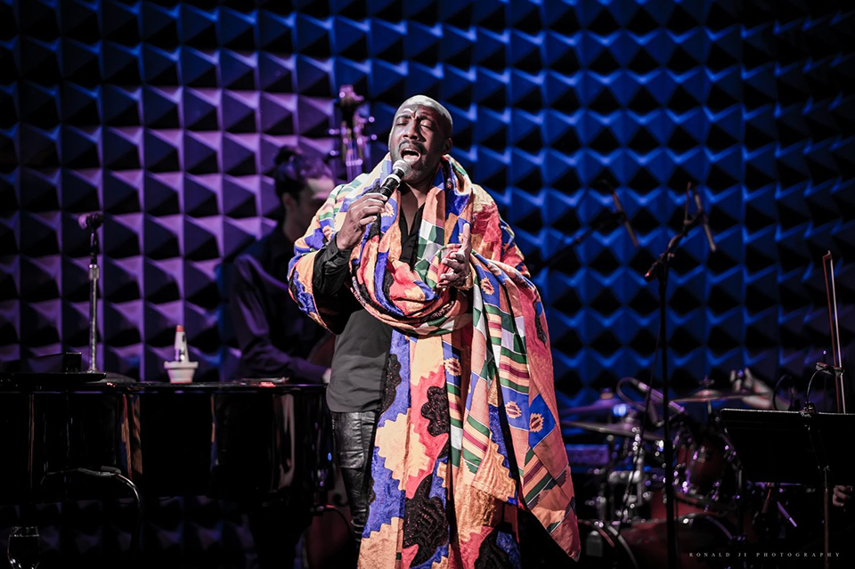 ABIAH sings Nina Simone at Joe's Pub at the Public Theater. Photograph by  Ronald Ji Photography.