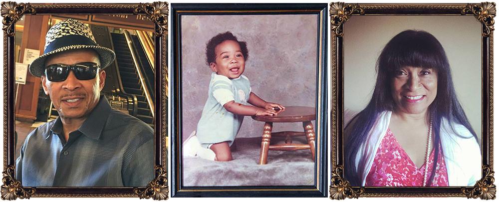 The folks who made him happen. Eddie Bailey, Jr., and Vicki Johnson flank an infant portrait of their son. Photos courtesy of Eddie Bailey III.