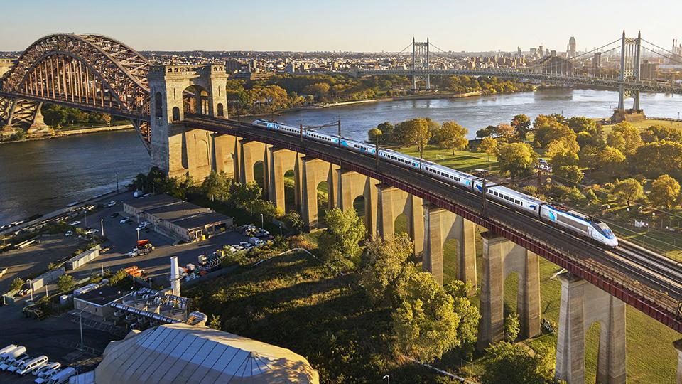 Amtrak's Acela Express travels the Northeast Corridor.