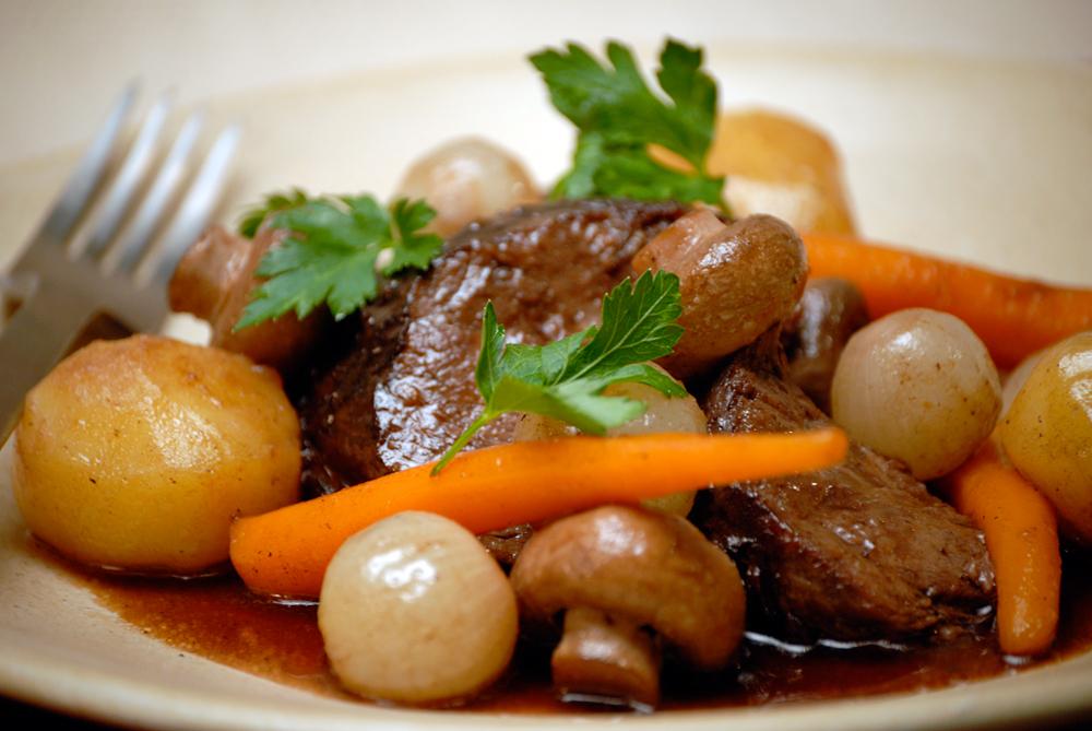Braised beef in red wine. Photo:  Essential Pepin.