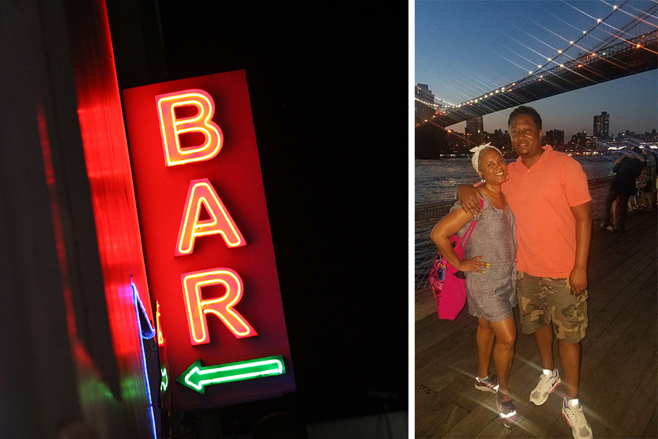 Neon bar sign photo by  Anvesh Reddy  on  Unsplash . The mobile beauty entrepreneur and filmmaker chilling in DUMBO. Photo courtesy of Eddie Bailey III.