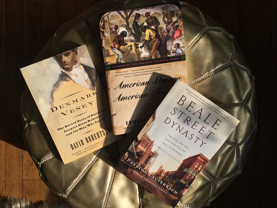 His current read on Denmark Vesey by David Robertson';  American Slavery, American Freedom  by Edmund Morgan; and  Beale Street Dynasty: Sex, Song and the Struggle for the Soul of Memphis  by historian Preston Lauterbach, who appears in  Memphis Majic .