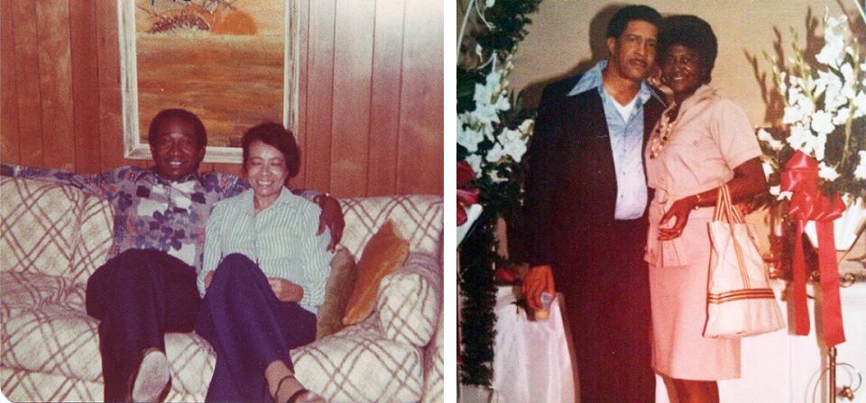 The Grands: Theodore and Annie Mae Johnson; and Eddie, Sr. and Barbara Bailey. Photos courtesy of Eddie Bailey III.