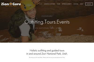 Website design for Zion Guru