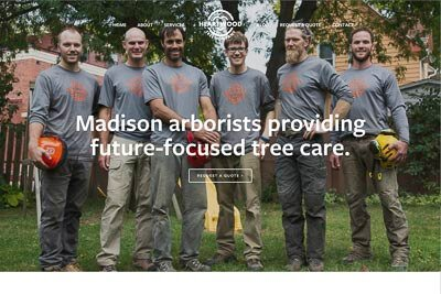 Website for Heartwood Tree Company in Madison, WI