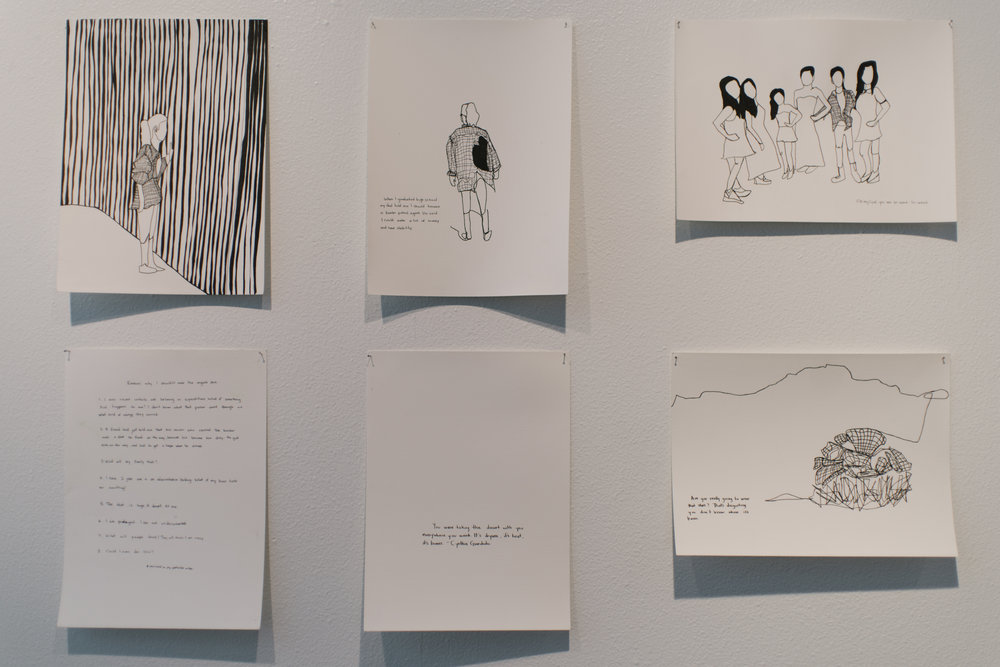 Teresita de la Torre Drawings from 365 in an Immigrant's Shirt Ink on watercolor paper Dimensions variable  2017