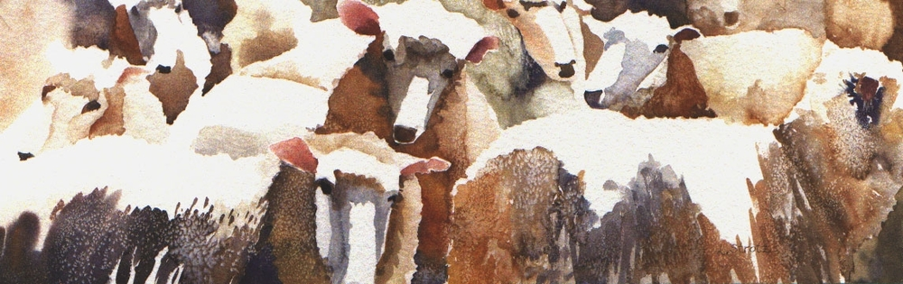 "Sheepish, 11.5"" x 35.5"" or  7.5"" x 23"""