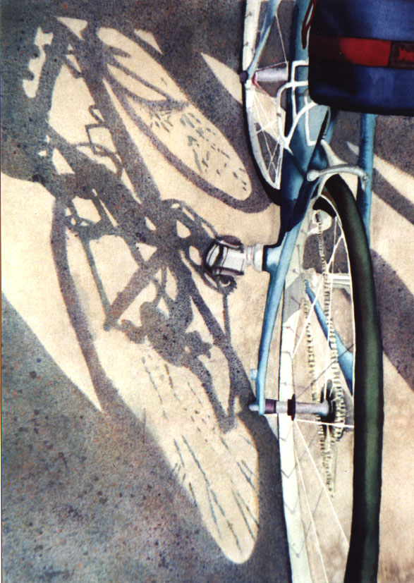 "Bike Shadow, 18"" x 13"" or 14.5"" x 11"""