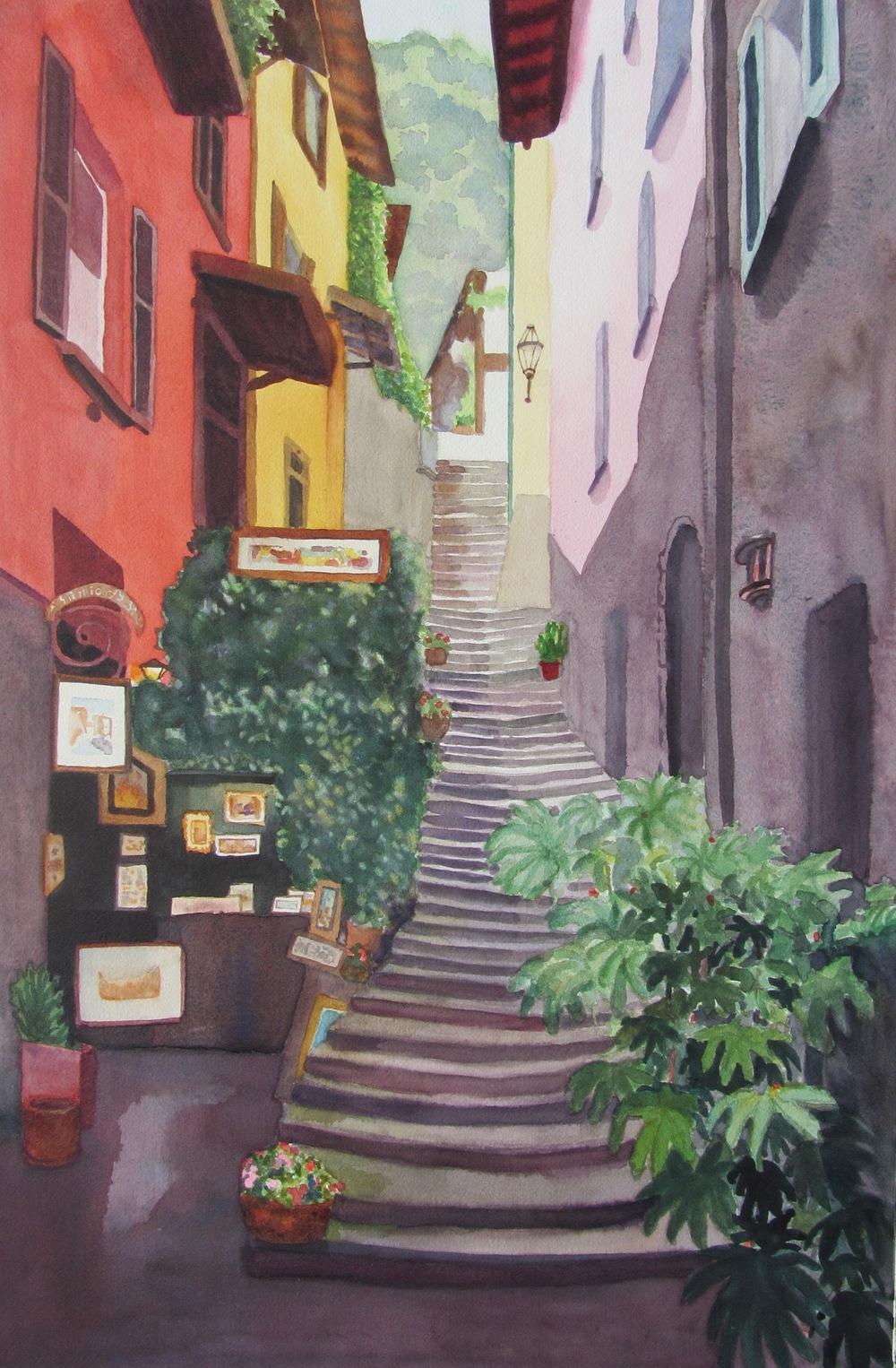 "Italian Steps, 20"" x 14"""