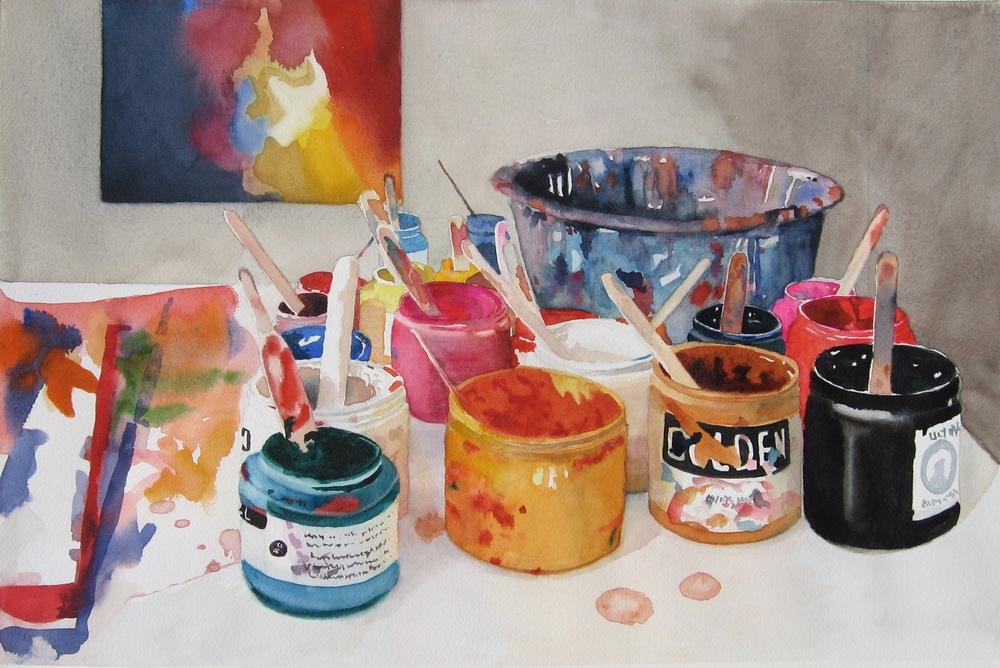 """Paint Pots, 11"""" x 15"""""""