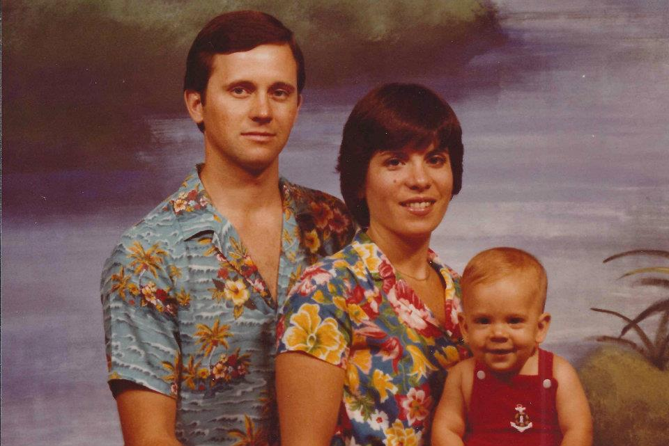 Kris with his family in 1980 or early '81. Boy does he wish his parents had kept those Hawaiian shirts.