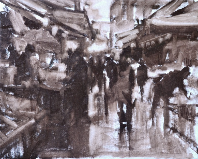 Morning Market Sketch