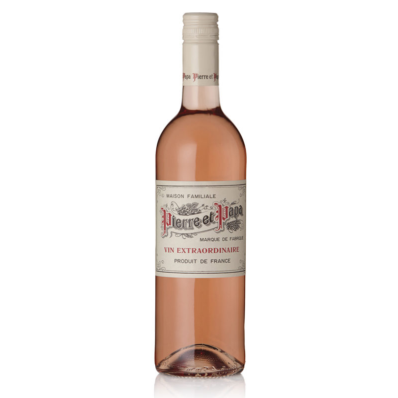 Pierre et Papa Rosé  IGP Pays D'Hérault - 100% CinsaultA light, refreshing rosé bursting with red fruits, a perfect balance of roundness and length