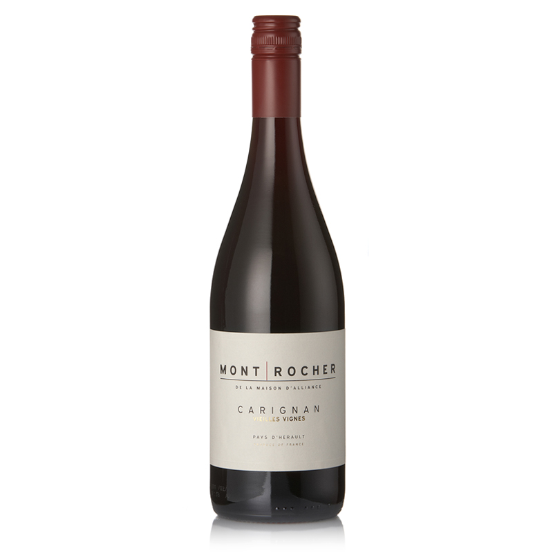 Mont Rocher Carignan Vieille Vignes IGP Pays D'Oc - abundance of juicy red berry fruit and hints of vanilla flavors. soft and  smooth