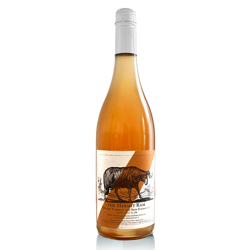 Skin-FermentedMuller Thurgau - Aromas of tangerine oils, dried ginger and nuts are pulled together by a fine and crunchy textured palate