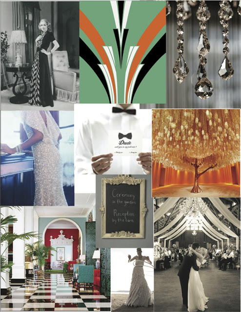 wedding mood board old hollywood