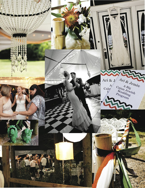 wedding mood boards, art deco in the country side
