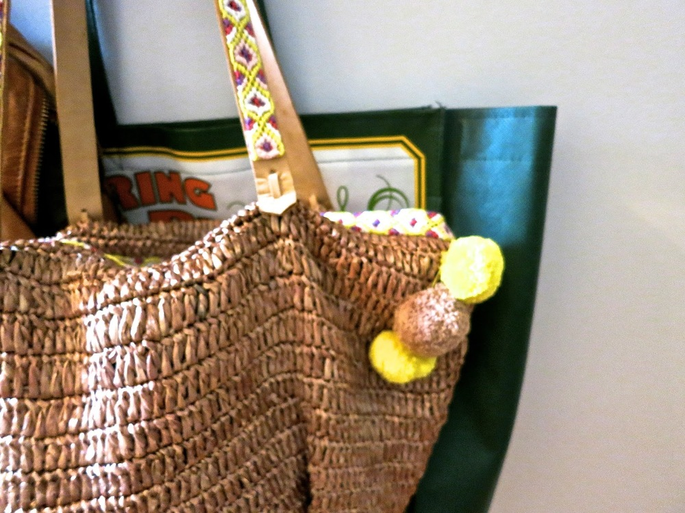 raffia handbag, bird song