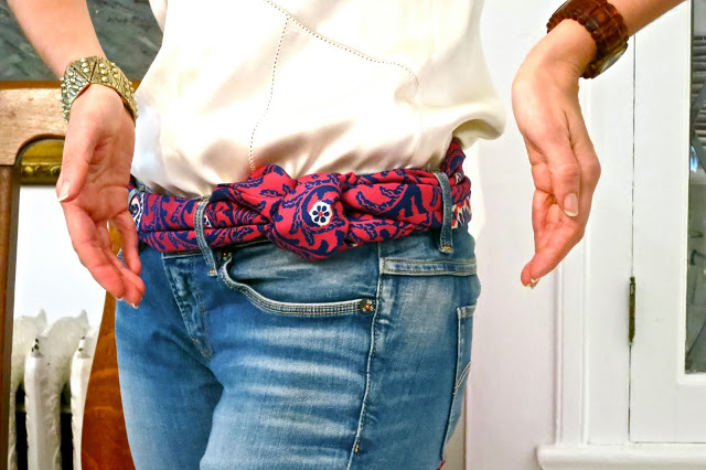 silk scarf belt