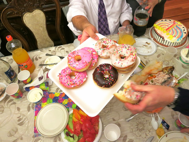 donuts, donuts with sprinkles, chanukah, hanukkah food, party food