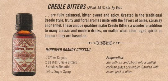 creole bitters, cocktail recipe, brandy cocktail