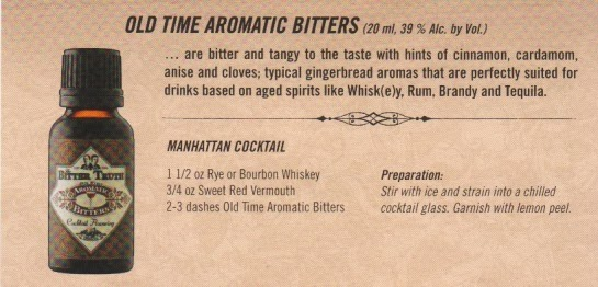 old time aromatic bitters, cocktail recipe, Manhattan cocktail