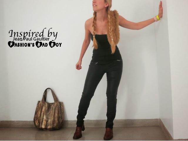 jean paul gaultier, jean paul gaultier exhibit, leather pants, corset, dolce & gabanna, long braids, fashion blogger, fashion photography