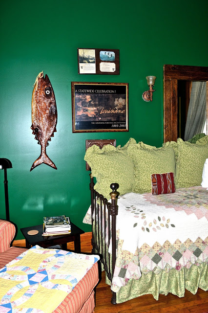 green paint, day bed