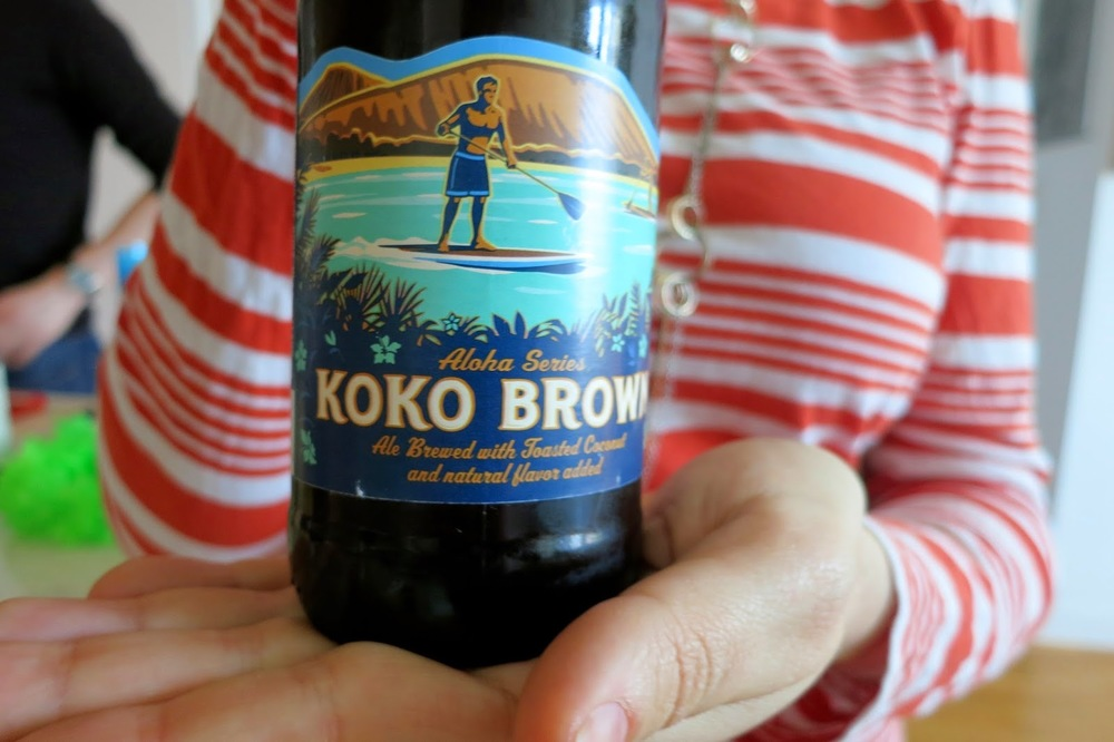 Purim Luau, surfer, kona beer, hawaii beer