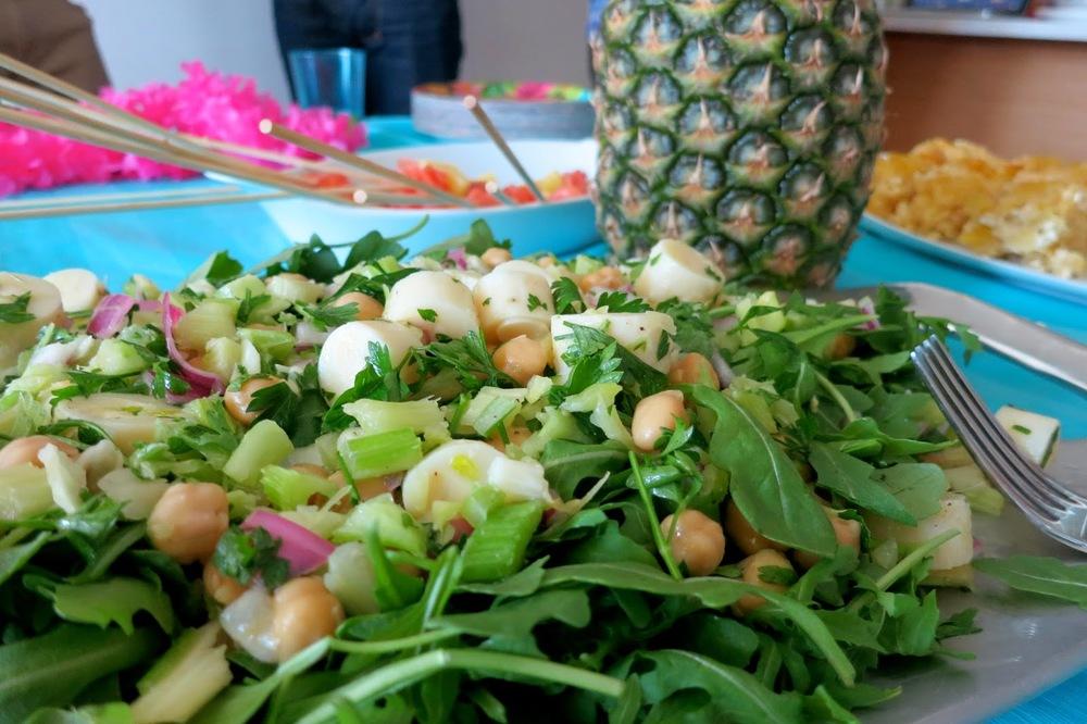 Purim Luau, arugula salad
