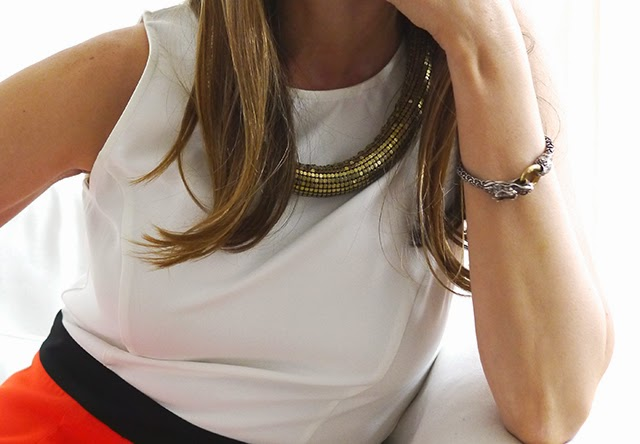 riess necklace, john hardy bracelet, katybelle dress, spring fashion, corporate dress