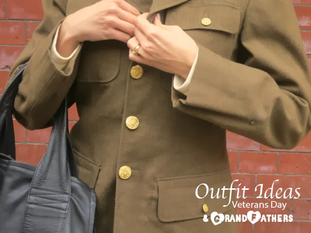 military uniform, fashion blogger, vintage army coat, gold buttons