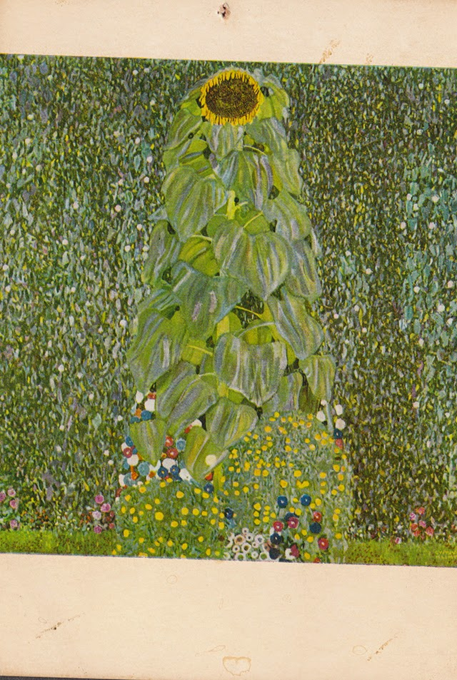 klimt_ klimt painting_postcard_sunflower_painting_modern art