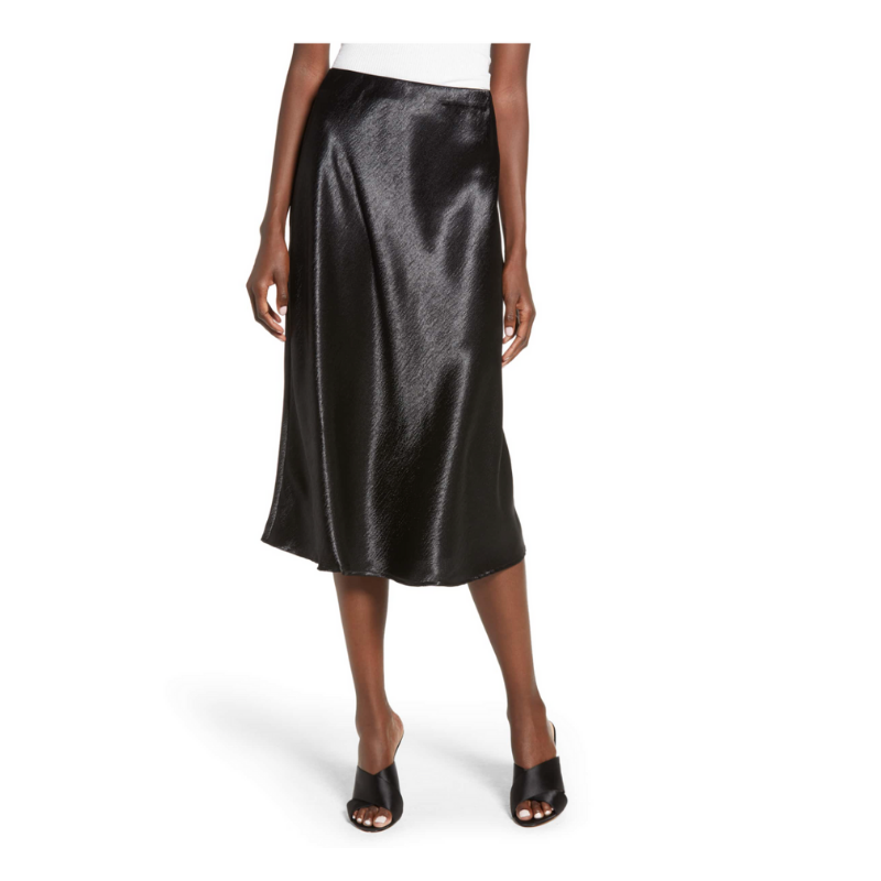 Black Silk Skirt -