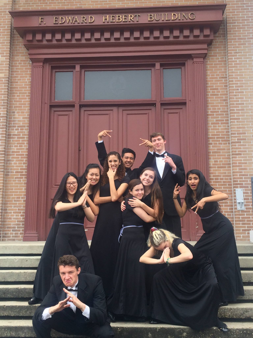 Some members of the BHS choir posing for a picture after their performance in New Orleans Photo courtesy of Allison Kelly