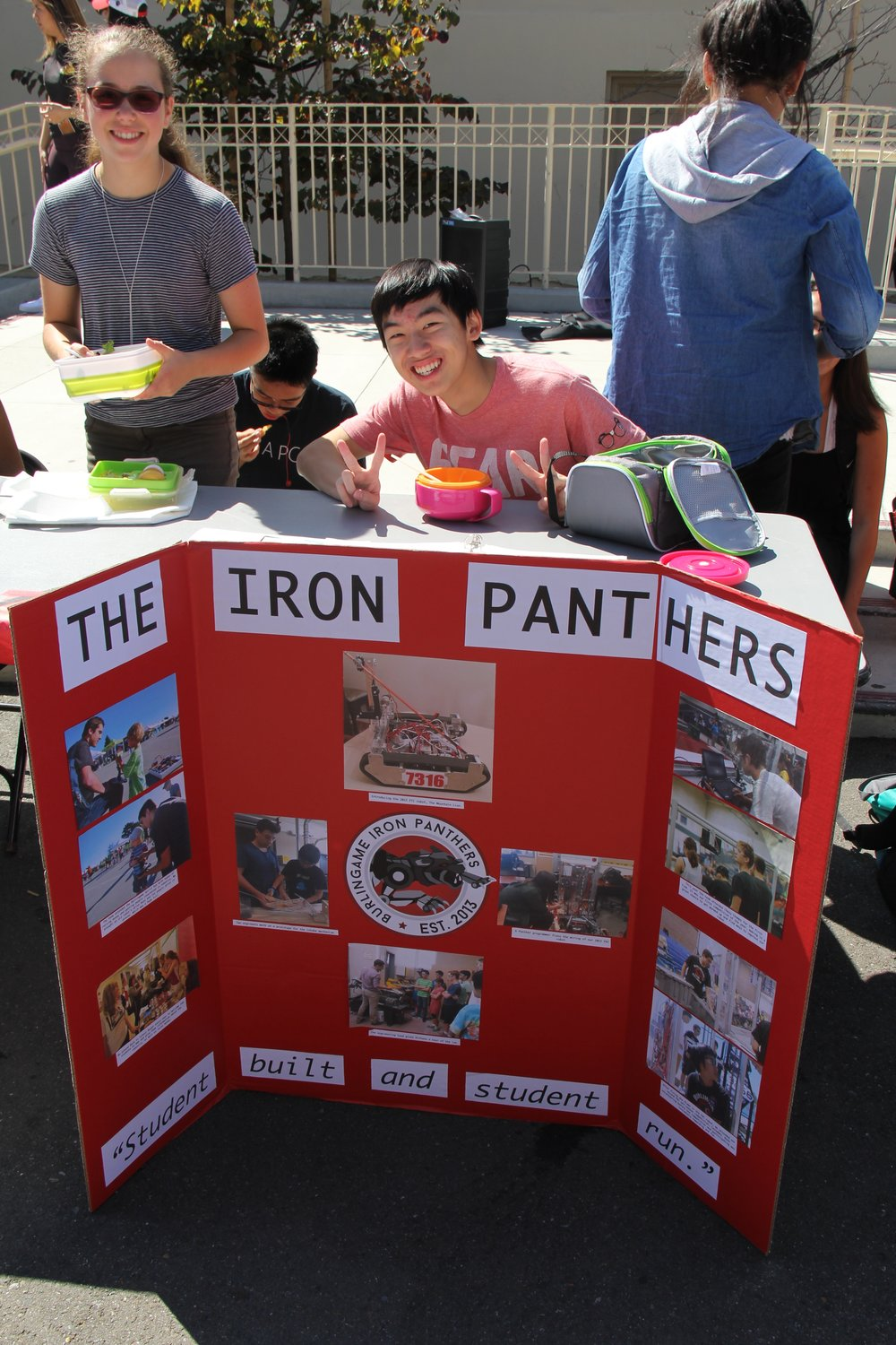Austin Soohoo (Center), captain of the BHS Robotics team, tables at the Club Fair with Katherine Mohr (Left) and Ryan Cheng (Left-Center).   Photo taken by Jason Rundle