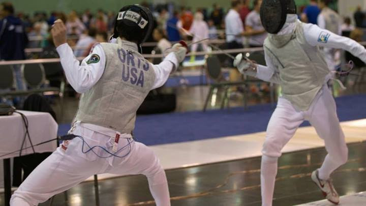 Orts travels internationally to compete at tournaments against the world's best fencers.