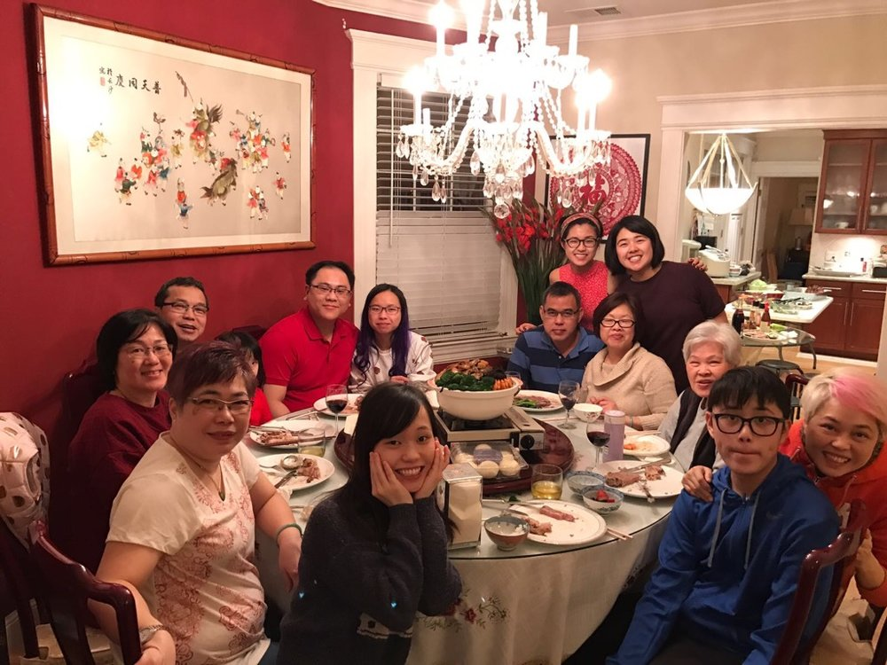 Senior Lillian Cheung celebrates the Chinese New Year with her family and friends.