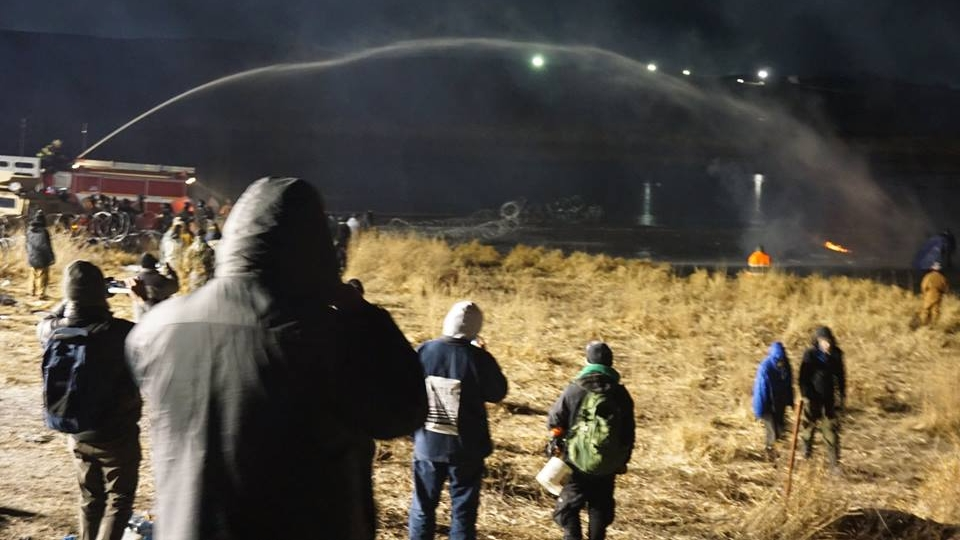 Officials spraying protesters with water in subfreezing weather. Organizers said at least 17 protesters were taken to the hospital — including some who were treated for hypothermia.