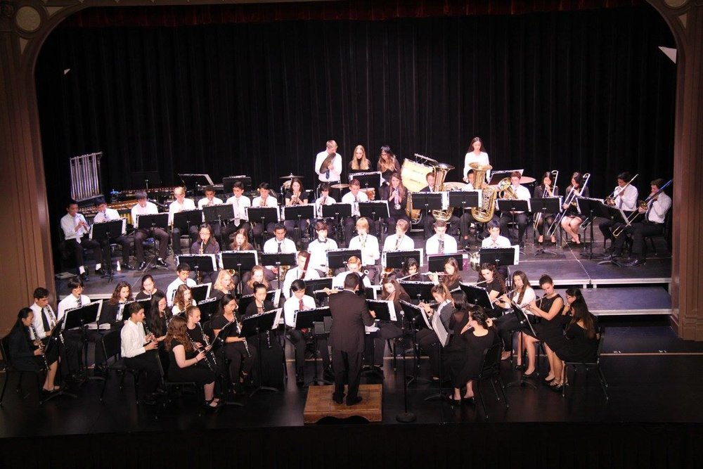 The band performs at their Winter Concert in December. Many band students are also interested in taking AP Music Theory to further their musical education.