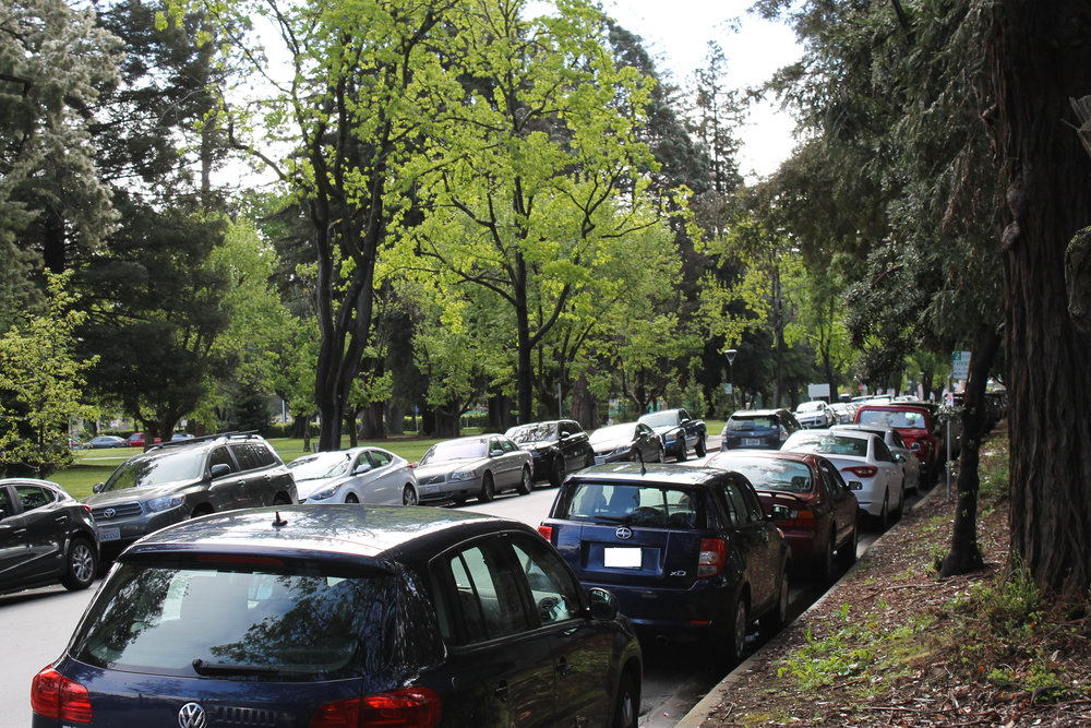 Cars parked on Carolan Avenue must now be moved by 4 p.m. in accordance with new city signage.