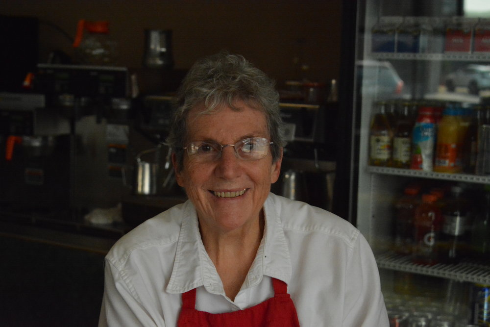 Linda Stephesnson's smile is a familiar greeting to many when they walk into the Royal Donut